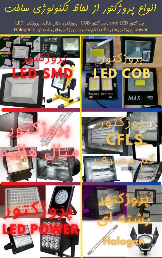 انواع پروژکتور از لحاظ تکنولوژی ساخت