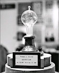 لامپ اختراع شده توسط ادیسون