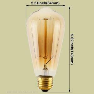 ابعاد لامپ st64