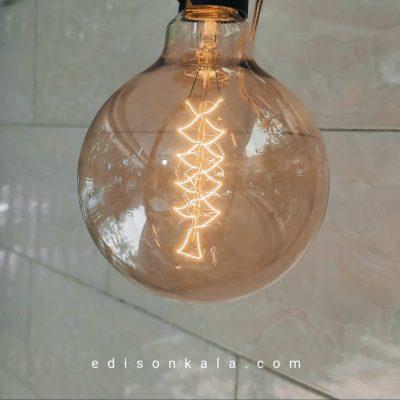 لامپ ادیسونی گرد g125 ادیسون کالا