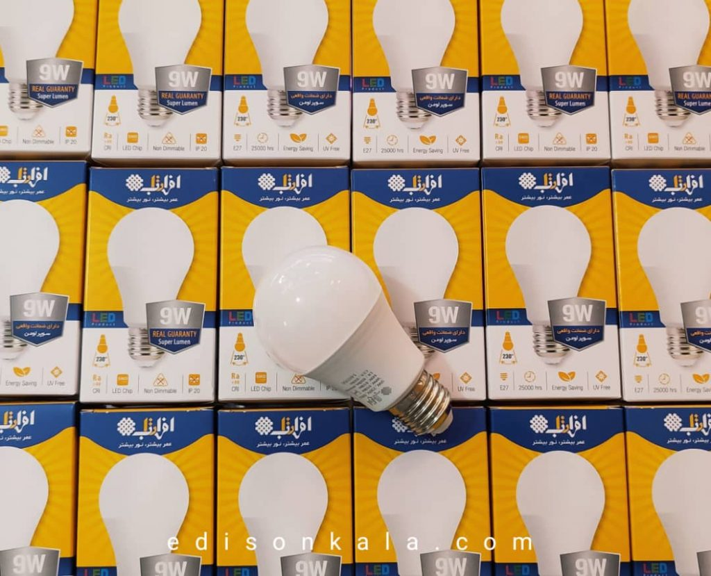 لامپ ال ای دی 9 وات افراتاب سوپر لومن