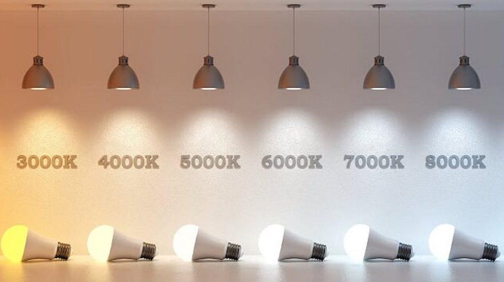 lمقایسه دمای رنگ انواع لامپ ادیسون کالا